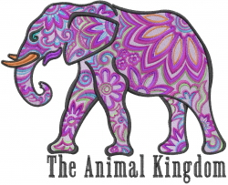 The Animal Kingdom embroidery design