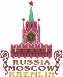 Kremlin Moscow embroidery design