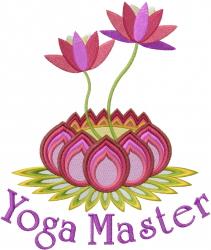 Yoga Master embroidery design