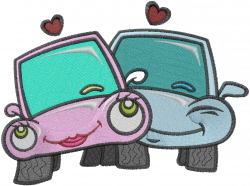 Love Cars embroidery design