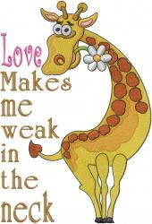 Weak Neck embroidery design