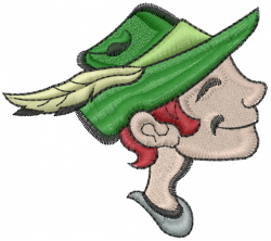 Hiker Head embroidery design