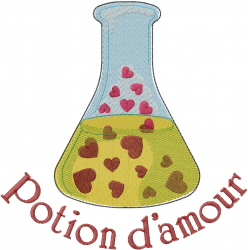 Potion Damour embroidery design
