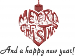 Christmas and New Year embroidery design