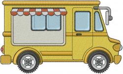 Vendor Truck embroidery design
