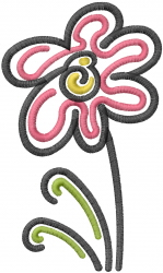 Art Flower embroidery design