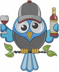 Party Animal Owl embroidery design