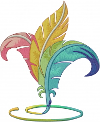 Pen Feathers embroidery design