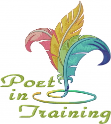 Poet in Training embroidery design