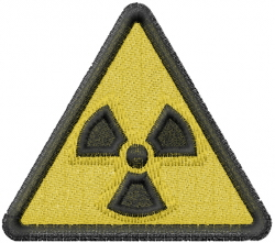 Radiation Caution Sign embroidery design