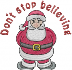 Dont Stop Believing embroidery design