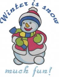 Snow Much Fun embroidery design