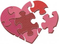 Valentine Puzzle embroidery design