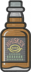 Bottle Whiskey embroidery design