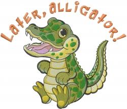 Later Alligator embroidery design