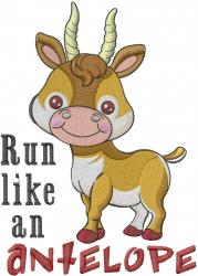 Antelope Run embroidery design