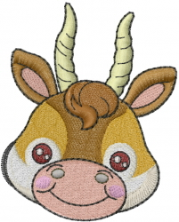 Antelope Head embroidery design