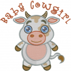 Baby Cowgirl embroidery design
