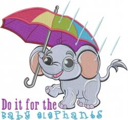Baby Elephants embroidery design