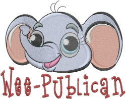 Wee-publican embroidery design