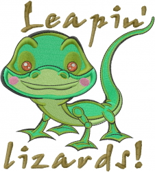 Leapin Lizards embroidery design