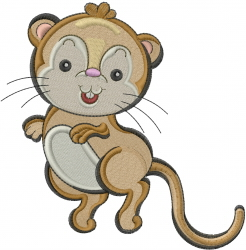 Little Gerbil embroidery design