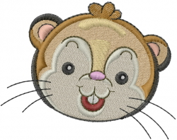 Gerbil Head embroidery design