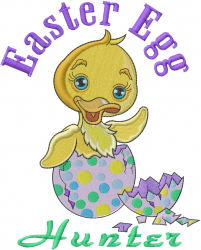Egg Hunter embroidery design