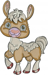 Baby Llama embroidery design