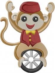 Circus Monkey embroidery design