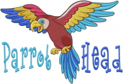 Parrot Head embroidery design
