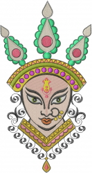 Indian Goddess Durva embroidery design