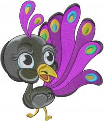 Peacock Bird embroidery design
