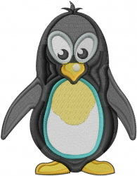 Penguin Bird embroidery design