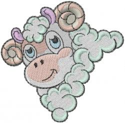 Farm Sheep embroidery design