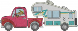 Camping Truck embroidery design