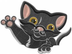 Kitten Wave embroidery design