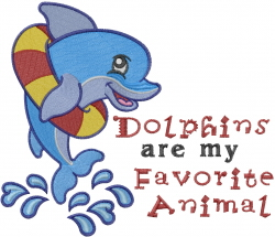 Dolphins Favorite embroidery design