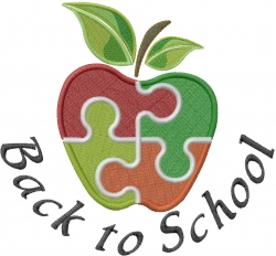 Back To School Embroidery Designs Machine Embroidery