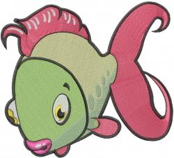 Cute Fish embroidery design
