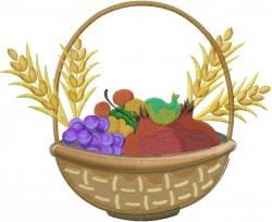 Feast of Weeks Basket embroidery design