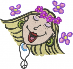Flower Child embroidery design