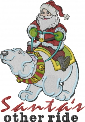 Santas Other Ride embroidery design