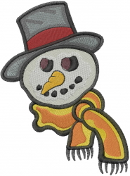 Snowman Head embroidery design