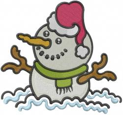 Santa Stick Snowman embroidery design