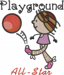 Playground All-Star embroidery design