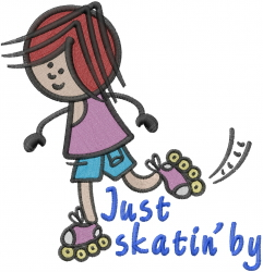 Just Skatin By embroidery design
