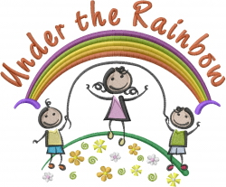 Under the Rainbow embroidery design