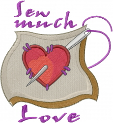 Sew Much Love embroidery design
