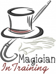 Magician in Training embroidery design
